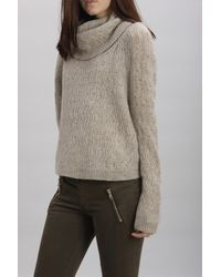 INHABIT | White Super Yak Zigzag Cowl Neck | Lyst