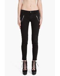 J Brand - Black Agnes Worn Onyx Twill Jeans - Lyst