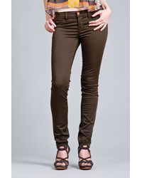 J Brand | Brown Sateen Legging Jean in West Point | Lyst