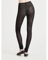 Jean Colonna - Black Silk Jersey Leggings - Lyst