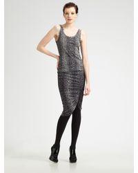 Jean Paul Gaultier | Gray Python-print Tulle Skirt | Lyst