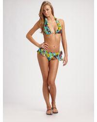Jean Paul Gaultier | Blue Ruffled Two-piece Bikini | Lyst