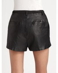 Joie - Black Denver Leather Shorts - Lyst