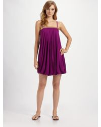 La perla Strapless Bubble Dress Coverup in Purple | Lyst