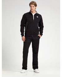 Lacoste | Black Track Jacket for Men | Lyst