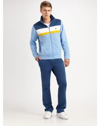 Lacoste | Blue Striped Track Jacket for Men | Lyst