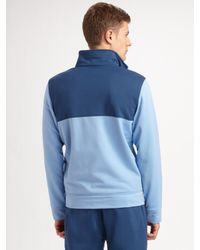 Lacoste - Blue Striped Track Jacket for Men - Lyst