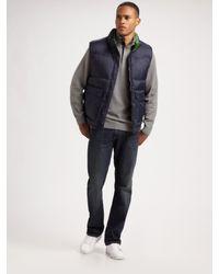 Lacoste | Blue Nylon Puffer Vest for Men | Lyst