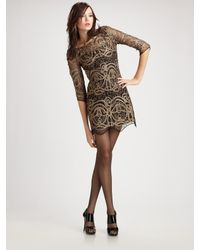 Larok - Metallic Lace Maze Dress - Lyst