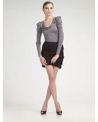 Leifsdottir | Black Onyx Jersey Ruffle Skirt | Lyst