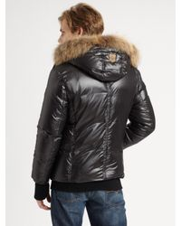 Mackage | Black Fur-lined Down Jacket for Men | Lyst