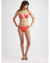 MILLY | Pink Tied Bikini Bottom | Lyst
