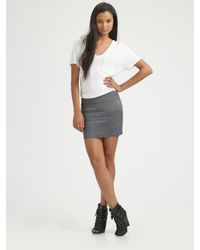 Pleasure Doing Business - Gray Banded Mini Skirt - Lyst