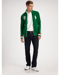 Polo Ralph Lauren | Green Big Pony Track Jacket/italy for Men | Lyst