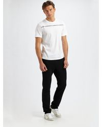 Prada - White Graphic Tee for Men - Lyst
