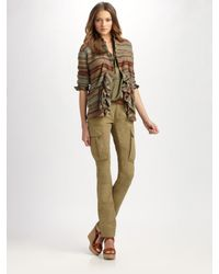 Ralph Lauren Blue Label | Green Skinny Stretch Cargo Pants | Lyst