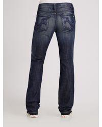 Rock & Republic - Black Neil Straight-leg Jeans for Men - Lyst