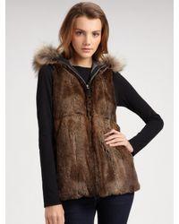 Sam. - Black Fur-trimmed Hooded Parka with Removable Fur Vest - Lyst