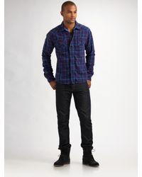 Scotch & Soda | Purple Flannel Shirt Jacket for Men | Lyst
