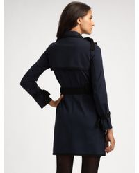 Sonia by Sonia Rykiel | Blue Bow-embellished Jersey Trench Coat | Lyst