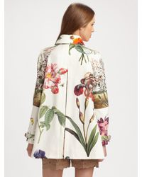 Stella McCartney - Multicolor Forsythia Botanical Cotton Coat - Lyst