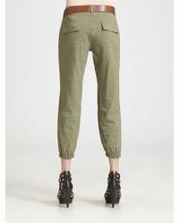 Theory - Green Malinda Cargo Pants & Belt - Lyst