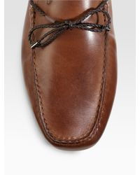 Tod's - Brown Laccetto My Colors Gommini Loafers/brushed Leather for Men - Lyst