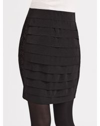 Tory Burch - Black Feather-trimmed Sheath Dress - Lyst