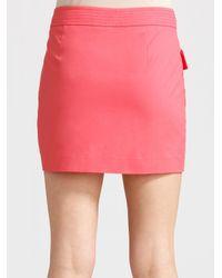 Tory Burch - Perer Stretch Twill Skirt/pink - Lyst