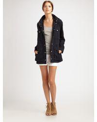 VINCE | Blue Twill Utility Jacket | Lyst