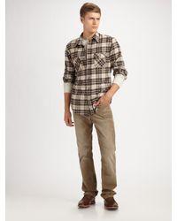 Vince | Green Plaid Flannel Shirt for Men | Lyst