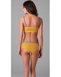 VPL - Yellow Intersection Bra - Lyst