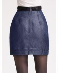 Z Spoke by Zac Posen | Blue Denim Suiting Skirt | Lyst