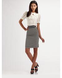 Z Spoke by Zac Posen | Black Stretch Wool Pencil Skirt | Lyst