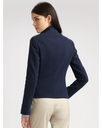 Akris Punto | Blue Long Sleeve Two-button Jacket | Lyst