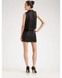 Alexander Wang - Black Draped-top Dress - Lyst