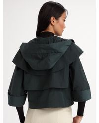 Alexander Wang - Green Folded Hoodie Jacket - Lyst