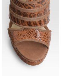 Alexandre Birman - Natural Snake-print Island-platform Sandals - Lyst