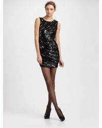 Alice + Olivia | Black Sequin Dress | Lyst