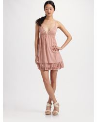 Alice + Olivia | Pink Lulu Tiered Tunic Dress | Lyst