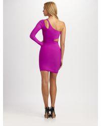 Boulee - Pink One-shoulder Cutout Dress - Lyst