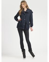 Burberry Brit | Blue Gateshead Packable Raincoat | Lyst