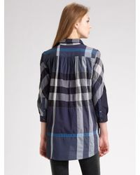Burberry Brit - Blue Gateshead Packable Raincoat - Lyst