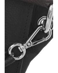 Carven - Black Washed-leather Shoulder Bag - Lyst