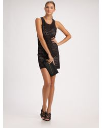 Derek Lam | Black Eyelet Sheath Dress | Lyst