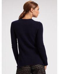 Derek Lam - Blue Asymmetrical Cashmere Sweater - Lyst