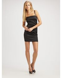 Dolce & Gabbana | Black Stretch Satin Camisole Dress | Lyst