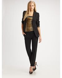 Dolce & Gabbana | Black Stretch Wool Blazer | Lyst