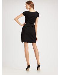 Dior | Black Short Sleeve Dress | Lyst