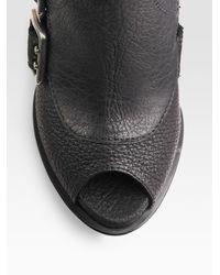 Dior - Black Spy Peep-toe Ankle Boots - Lyst